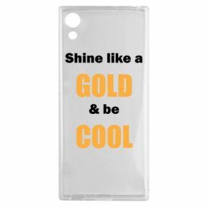 Etui na Sony Xperia XA1 Shine like a gold & be cool