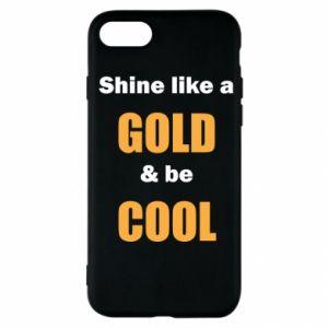 Etui na iPhone SE 2020 Shine like a gold & be cool