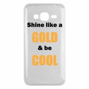 Etui na Samsung J3 2016 Shine like a gold & be cool