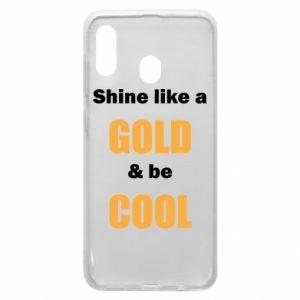 Etui na Samsung A20 Shine like a gold & be cool