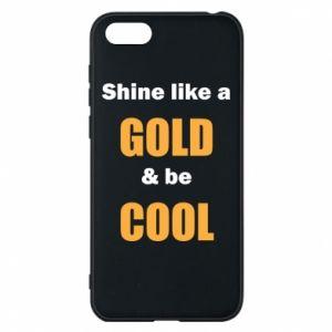Etui na Huawei Y5 2018 Shine like a gold & be cool
