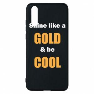 Etui na Huawei P20 Shine like a gold & be cool