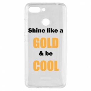 Etui na Xiaomi Redmi 6 Shine like a gold & be cool
