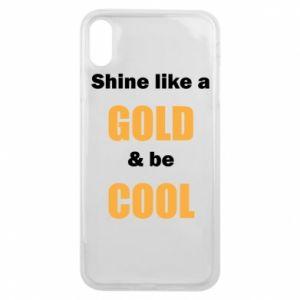 Etui na iPhone Xs Max Shine like a gold & be cool