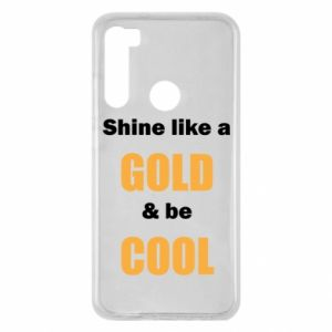 Etui na Xiaomi Redmi Note 8 Shine like a gold & be cool