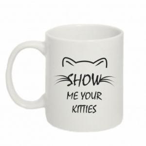 Kubek 330ml Show me your kitties - PrintSalon