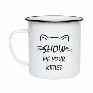 Kubek emaliowane Show me your kitties - PrintSalon