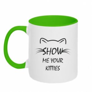 Kubek dwukolorowy Show me your kitties - PrintSalon