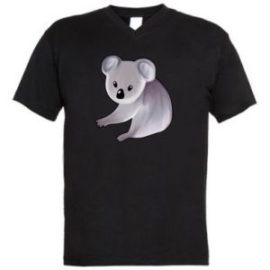 Men's V-neck t-shirt Shy koala