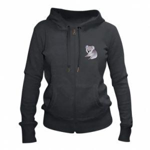 Damska bluza na zamek Shy koala - PrintSalon