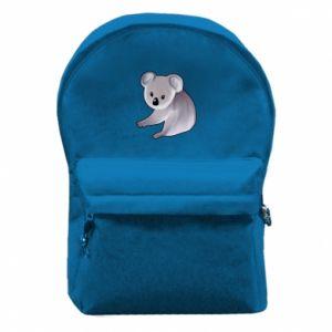 Plecak z przednią kieszenią Shy koala - PrintSalon