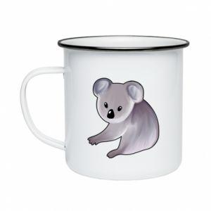 Enameled mug Shy koala