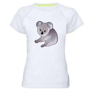 Damska koszulka sportowa Shy koala - PrintSalon