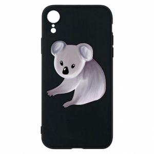 Etui na iPhone XR Shy koala
