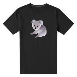 Męska premium koszulka Shy koala - PrintSalon