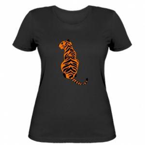 Women's t-shirt Tiger sitting