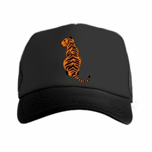 Trucker hat Tiger sitting