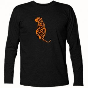 Long Sleeve T-shirt Tiger sitting