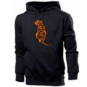 Men's hoodie Tiger sitting