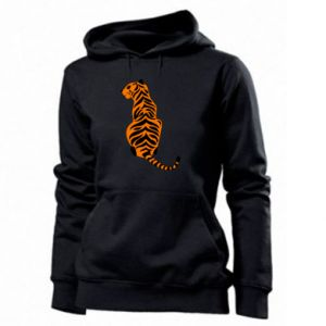 Women's hoodies Tiger sitting