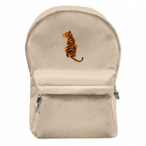 Backpack with front pocket Tiger sitting