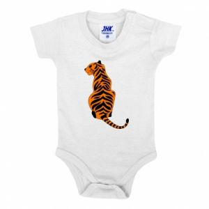 Baby bodysuit Tiger sitting