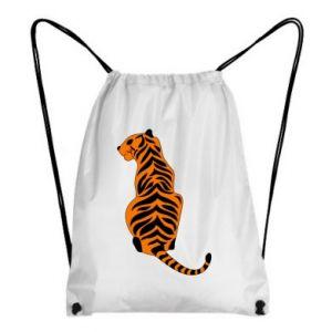 Backpack-bag Tiger sitting