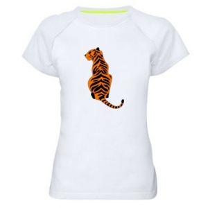 Women's sports t-shirt Tiger sitting