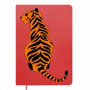 Notepad Tiger sitting