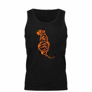 Męska koszulka Siedzi tygrys