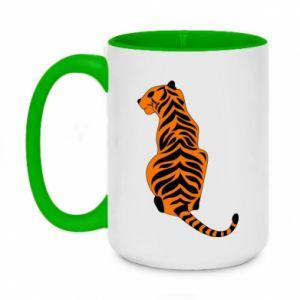 Two-toned mug 450ml Tiger sitting