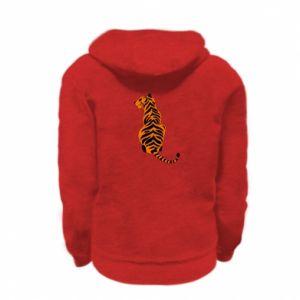 Kid's zipped hoodie % print% Tiger sitting