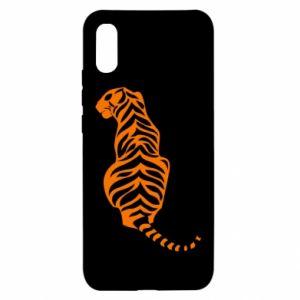 Xiaomi Redmi 9a Case Tiger sitting