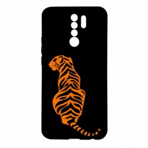 Etui na Xiaomi Redmi 9 Siedzi tygrys