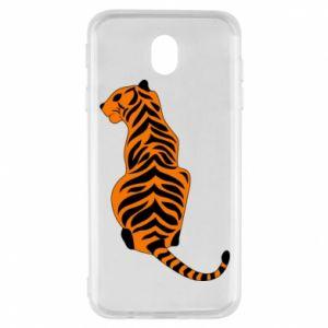 Samsung J7 2017 Case Tiger sitting