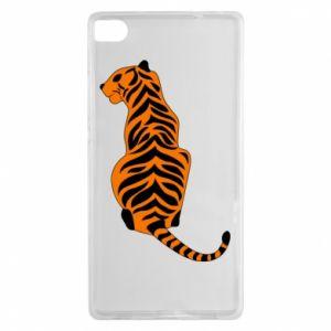 Huawei P8 Case Tiger sitting