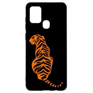 Samsung A21s Case Tiger sitting