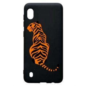 Samsung A10 Case Tiger sitting