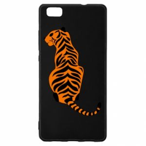 Huawei P8 Lite Case Tiger sitting