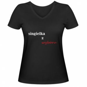 Women's V-neck t-shirt Single by choice - PrintSalon