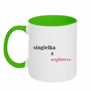 Two-toned mug Single by choice - PrintSalon