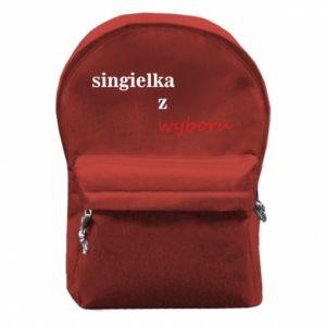 Plecak z przednią kieszenią Singielka z wyboru