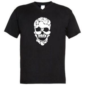 Męska koszulka V-neck Skull brush