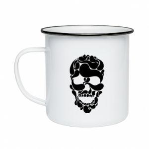 Enameled mug Skull brush