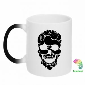 Chameleon mugs Skull brush