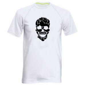 Men's sports t-shirt Skull brush