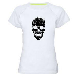 Women's sports t-shirt Skull brush