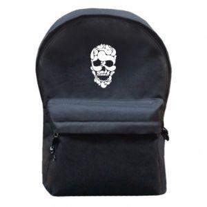 Backpack with front pocket Skull brush