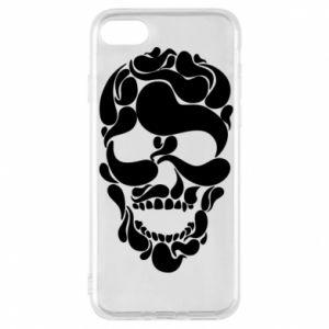 Phone case for iPhone 8 Skull brush