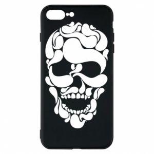 Phone case for iPhone 8 Plus Skull brush